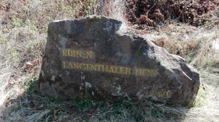 Ruinen Langenthaler Hof 1