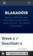 My blog: homepage (phone view) / Mo bhlag: leathanach baile (radharc fóin) - Nokia Lumia 635