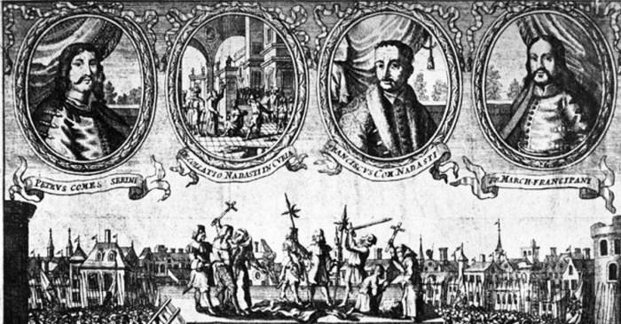 Odmah nakon smaknuća Petra Zrinskog i Frana Krste Frankopana Habsburgovci su iz dvoraca i zamkova diljem Hrvatske odnijeli bogatstvo kojem se gubi svaki trag