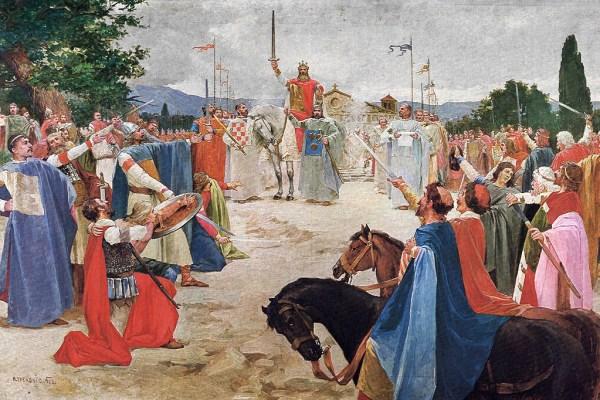 Priznaj gdje se utaborio tvoj kralj Tomislav? Upitao je ispitivač junaka koji mu je odgovorio Tamo gdje ga nećeš nikad pronaći!