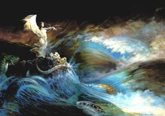 Pijavicama i neverama vladaju duhovi vještica koji rastvaraju more, u zrak dižu brodove i vitlaju olujama koje lede krv u žilama