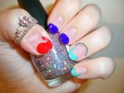 little mermaid nail art