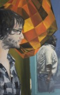 "Fusiform Gyrus, 2013, Oil on Canvas 40""x26"""