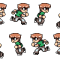 Ember sprite sheet walking animation by specktres images frompo