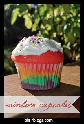 How To Make Beautiful Rainbow Cupcakes