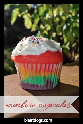 How To Make Beautiful Rainbow Cupcakes