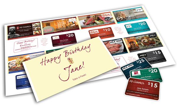 BirthdayPak Gives Direct Marketing a New Look…Free Gift Cards?