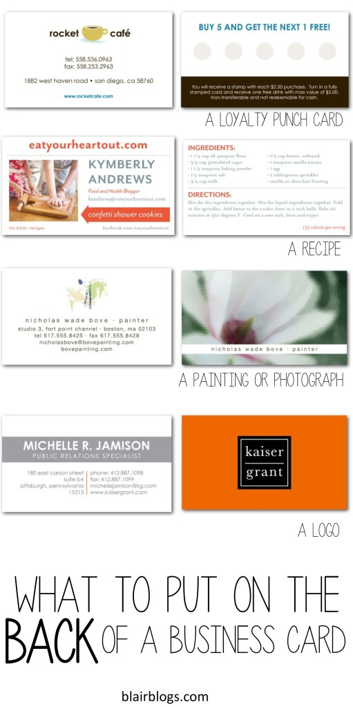 What To Put On The Back of Your Business Card {Guest Post}