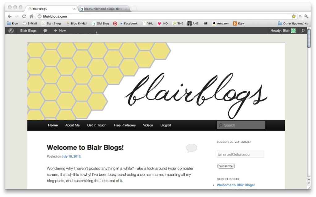 Blair Blogs gets a facelift | Blair Blogs