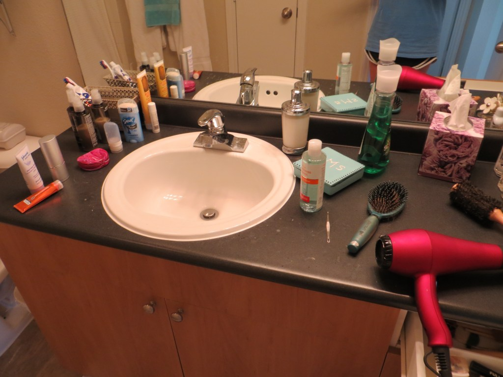 Organize a small apartment bathroom | Blair Blogs