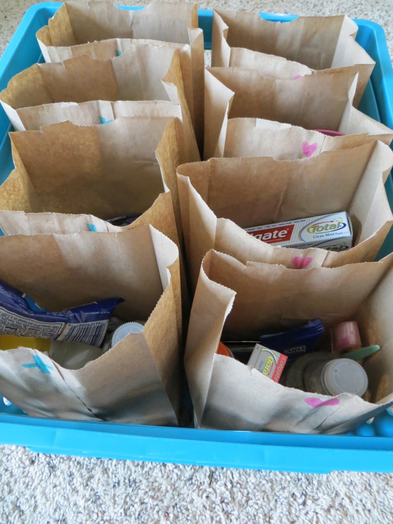 Blessing bags for the homeless | Blair Blogs