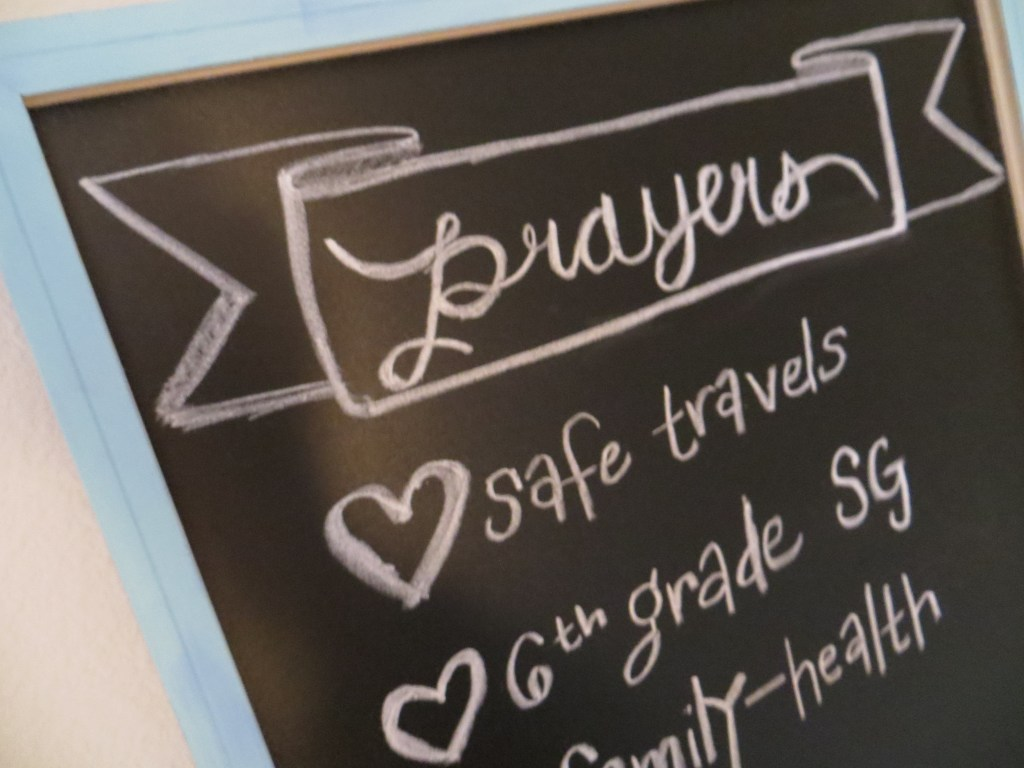 DIY Prayer Chalkboard