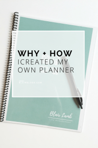 How To Create Your Own Planner | BlairBlogs.com