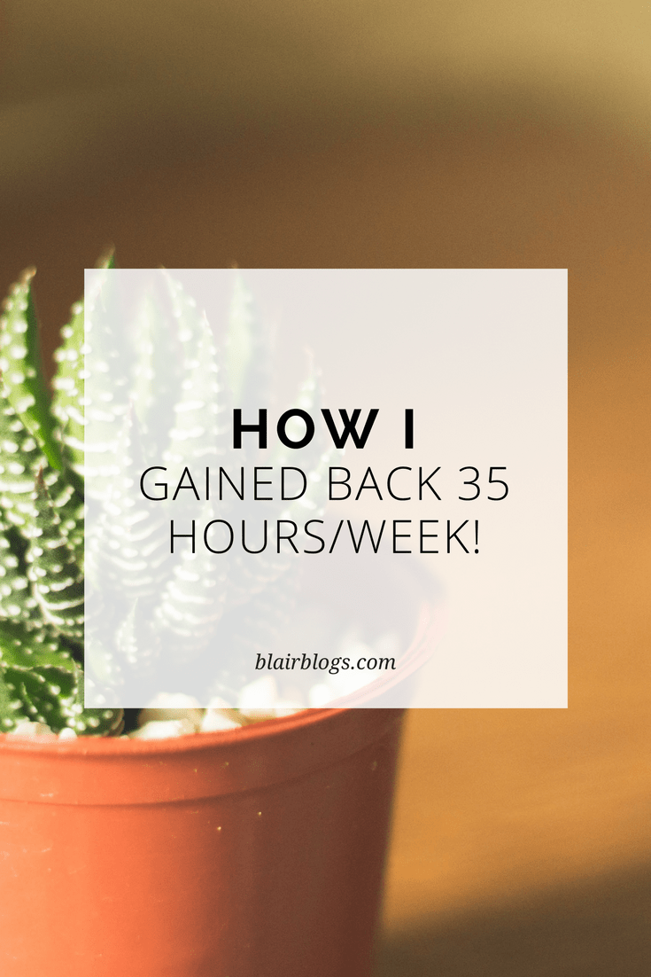 How I Gained Back 35 Hours/Week! | BlairBlogs.com