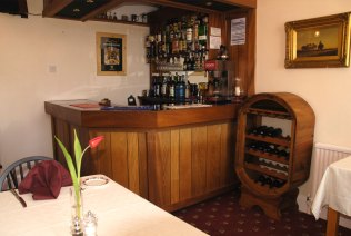 The licensed bar at the Blair Lodge Guest House