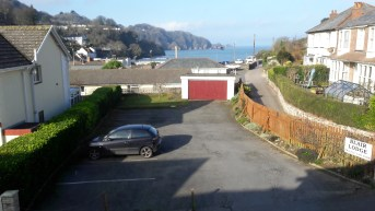 Car park and view