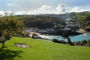 Combe Martin sea front in the sunshine