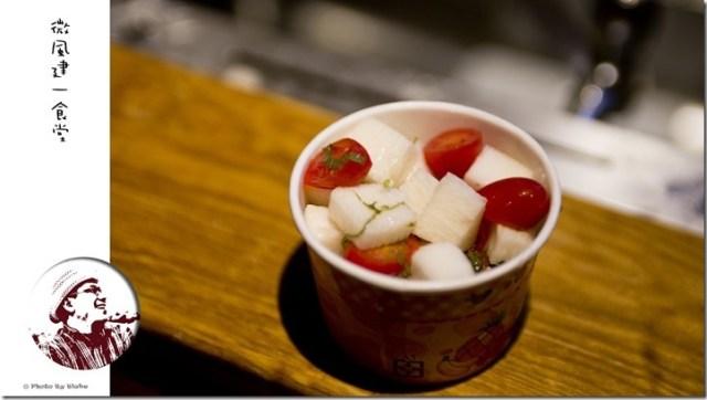 紫蘇漬山藥番茄-微風建一食堂