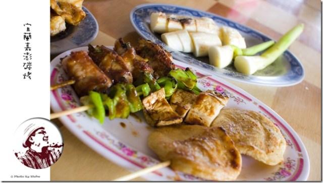 嘉澎碳烤澎湖牡蠣-三星蔥肉串