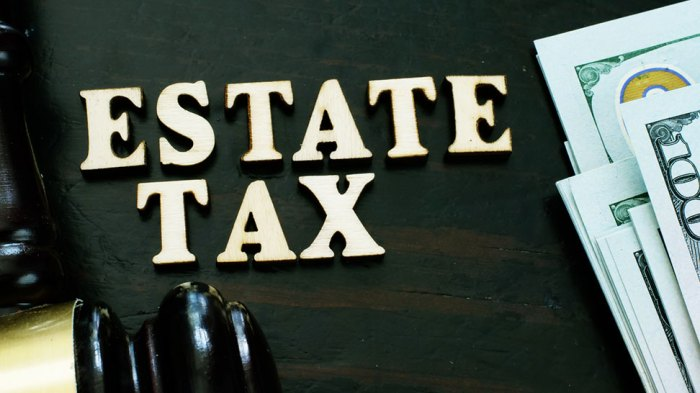 estate tax letters with us money on the right side