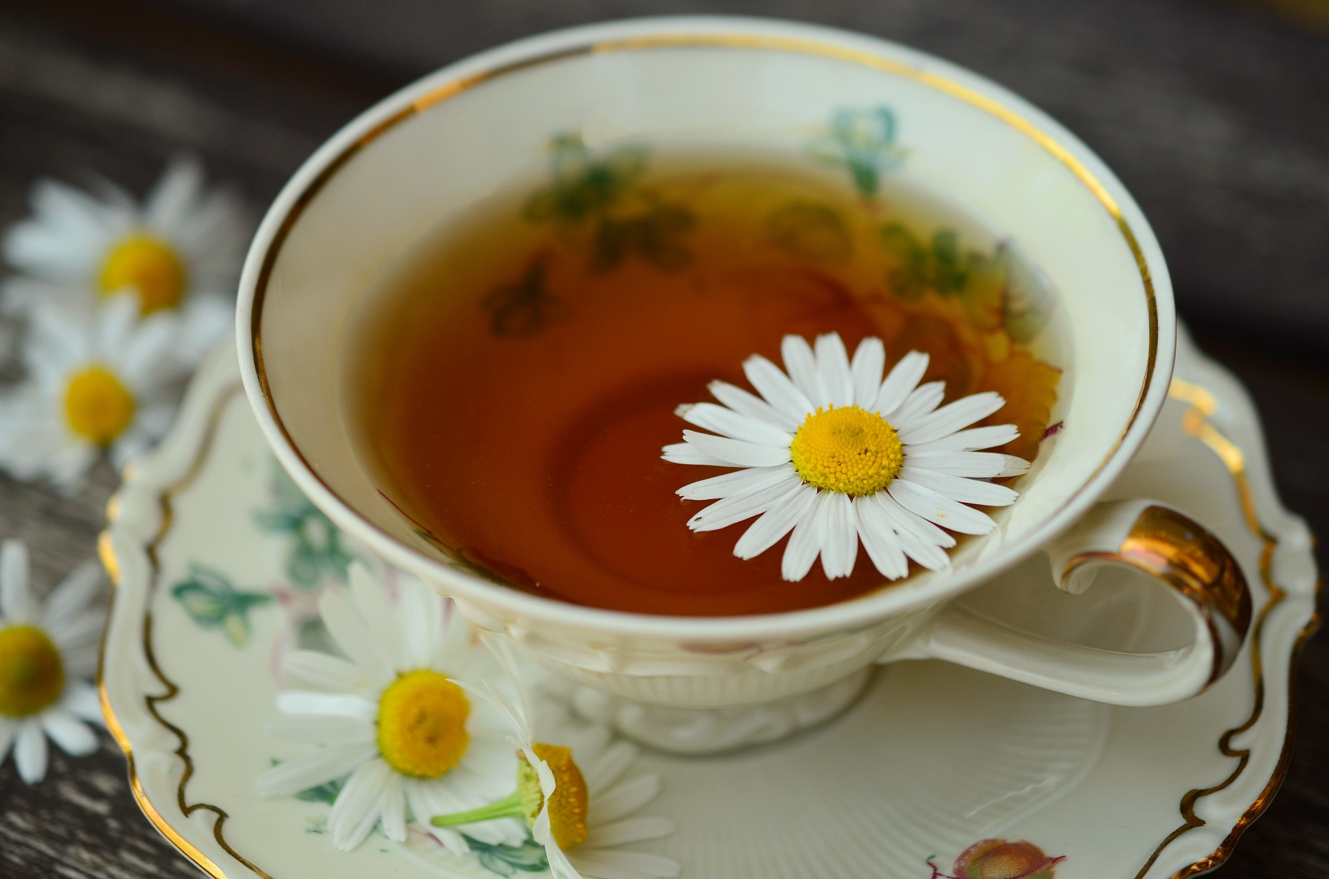 A cup of chamomile tea might help.