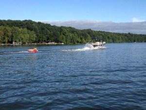 boat pulling tube