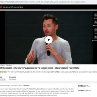 "Yahoo! Finance: ""Blake Mallen's TEDx Talk About Shifting the Script Surpasses 1 Million Views"""