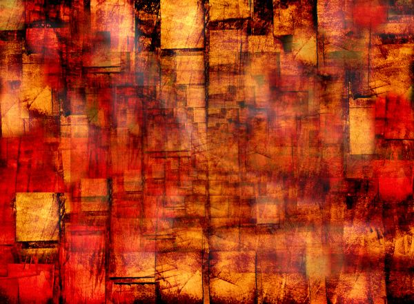 Red and Gold Abstract Art