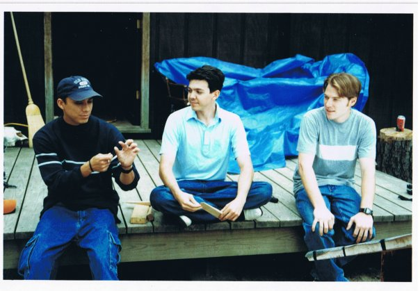 Rain Chavez, Aaron Marshall and Marcus Lomas on the set of The Land