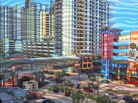 Tropical Daytona Beach Florida Downtown Beachside Art