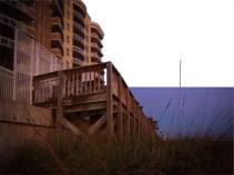 Sea Oats at Resort Beach Access Wall on Beach