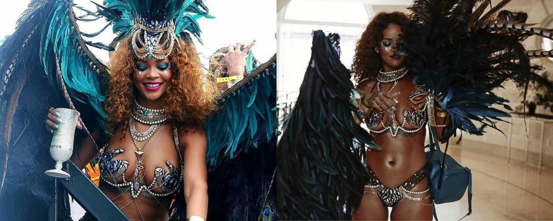 Rihanna sublime en tenue de carnaval, c'est la reine du Crop over à la Barbade