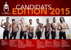 Les candidats de l'élection Mr Ambassador