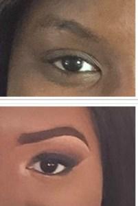Avant-Après pour un smoky eyes