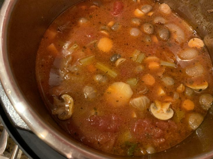 healthy and hearty beef and vegetable soup