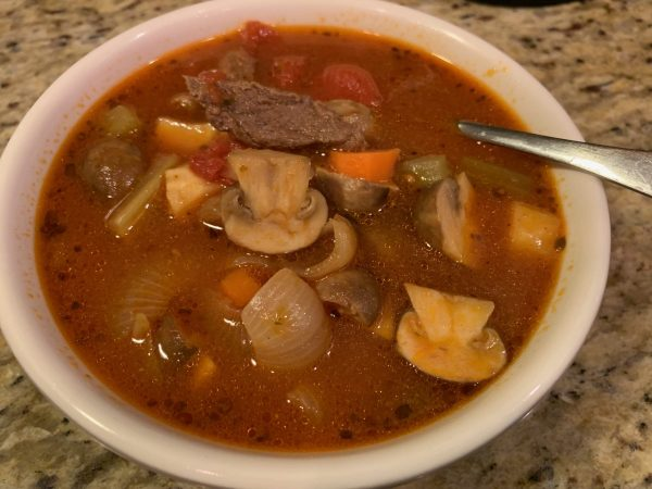 Beef and Vegetable Soup with Tomato