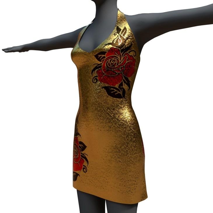 Marisol Dress Roses