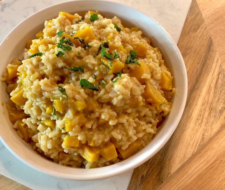 Risotto with Delicata Squash