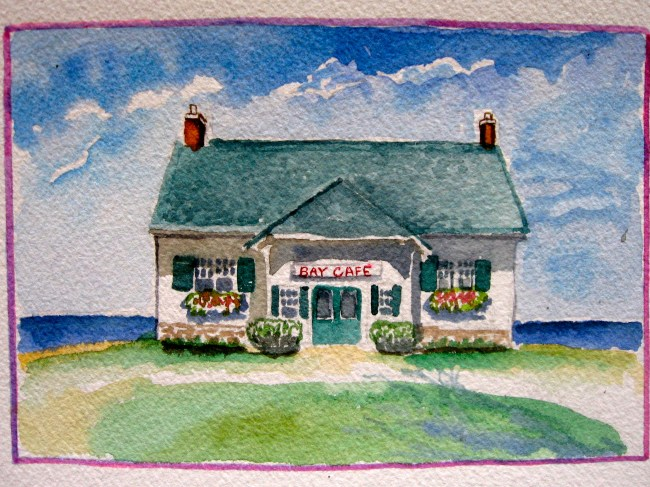 """This is the restaurant down by the bay That was owned by the lady That loved to sautee That shopped with the people who smiled and said """"hey!"""" That waved to the boy That pulled the wagon That carried the beet That Tom grew."""