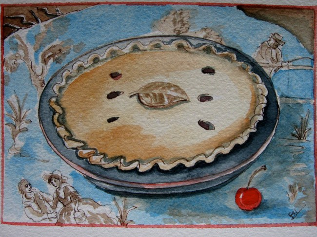 This is the pie that Mama made.