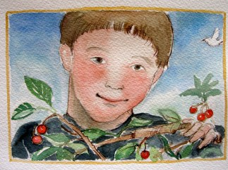 This is the boy by the name of Bert That climbed the tree That grew the fruit That was picked for the pie That Mama made.