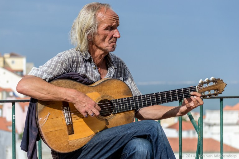 photo: man with guitar
