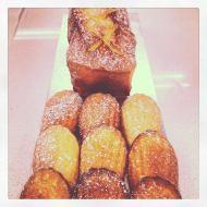 Lemon Pound cake and madeleines