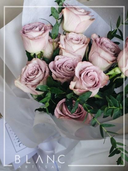 MELLOW MOCHA - PURPLE ROSES | ROSE DYNASTY | BLANC SIGNATURE