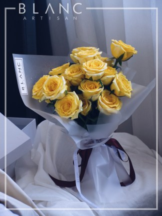🌹 TOPAZ - YELLOW ROSES BOUQUET | ROSE DYNASTY | BLANC SIGNATURE 2019