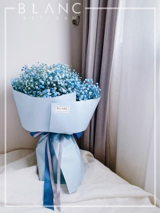 ☁️ VENICE - BLUE BABY BREATH BOUQUET