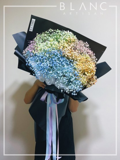 ☁️ TURIN - LARGE RAINBOW BABY BREATH BOUQUET