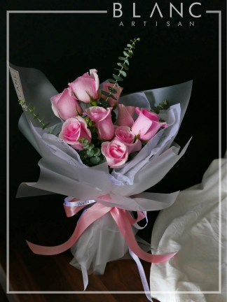 VALENTINE'S DAY PINK ROSE BOUQUET