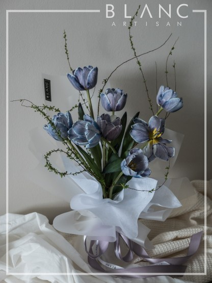 🌷 HAARLEM - BLUE TULIPS BOUQUET DELIVERY