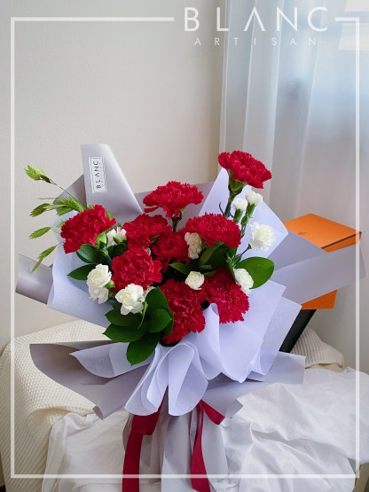 💐 MADRID – MOTHER'S DAY RED CARNATION BOUQUET